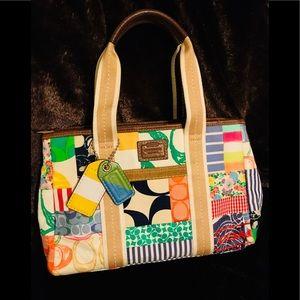 🌟SALE🌟🌺Coach Patchwork pattern satchel purse🌺